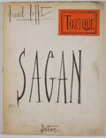 Books:First Editions, Francoise Sagan. Toxique. [New York]: Dutton, [1964]. FirstAmerican edition. Quarto. Publisher's wrappers. Good....