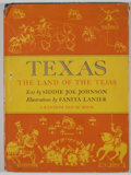 Books:First Editions, Siddie Joe Johnson. Texas: The Land of the Tejas. New York:Random House, [1943]. First edition. Quarto. Publisher's...