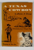 Books:First Editions, Charles A. Siringo. A Texas Cowboy. New York: WilliamSloane, [1950]. Revised edition. Octavo. Publisher's binding a...