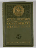 Books:First Editions, J. L. M. Curry. Civil History of the Government of theConfederate States with Some Personal Reminiscences....