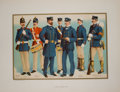 Antiques:Posters & Prints, Four Color Prints with Views of United States Naval Uniforms fromThe United States Army and Navy. Akron: Werner... (Total: 4Items)