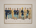 Antiques:Posters & Prints, Three Color Prints with Views of United States Army Uniforms fromThe United States Army and Navy. Akron: Werner... (Total: 3Items)