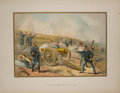 Antiques:Posters & Prints, Four Color Prints with Scenes of United States Army Battles fromThe United States Army and Navy. Akron: Werner ... (Total: 4Items)