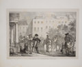 Antiques:Posters & Prints, Hjalmar Morner. Four Lithographic Plates from MiscellaneousSketches of Contrasts. [London]: R. Ackermann, 1831.... (Total:4 Items)