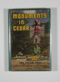 Books:First Editions, Edward L. Keithahn. SIGNED. Monuments in Cedar....