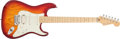 Musical Instruments:Electric Guitars, 2004 Fender Stratocaster Sunburst Electric Guitar, #DZ4120213. ...
