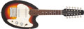 Musical Instruments:Electric Guitars, 1960's Vox Mando Guitar Sunburst Solid Body, #305643. ...