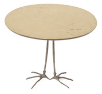 A MERET OPPENHEIM CAST GILT BRONZE AND GILT WOOD TRACCIA TABLE Designed by Meret