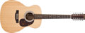 Musical Instruments:Acoustic Guitars, Modern Martin Custom Natural 12-String Acoustic Guitar, #806686....