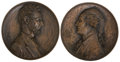Political:Presidential Relics, George Washington: Lincoln and George Washington in Bronze.... (Total: 2 Items)