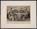 Political:Small Paper (pre-1896), Abraham Lincoln: 1867 Currier & Ives Print. ...