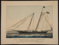 Antiques:Decorative Americana, Currier & Ives Yachting Print. ...