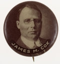 Political:Pinback Buttons (1896-present), James M. Cox: Scarce Picture Pin....