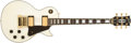 Musical Instruments:Electric Guitars, 1986 Gibson Les Paul Custom White Electric Guitar #82616501....
