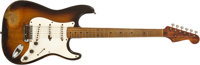 1954 Fender Stratocaster Sunburst Solid Body Electric Guitar, #0255