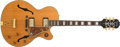 Musical Instruments:Electric Guitars, Modern Epiphone L5 Style Natural Hollow Body Electric, #9062825....