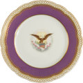 Political:3D & Other Display (pre-1896), [Abraham Lincoln] White House Dessert Plate from the Lincoln Service. ...