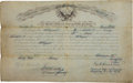 Military & Patriotic:Indian Wars, Louis Rott: His Appointment as a First Sergeant, Company K, SeventhCavalry, Signed By Lt. Colonel G. A. Custer....