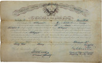 Louis Rott: His Appointment as a First Sergeant, Company K, Seventh Cavalry, Signed By Lt. Colonel G. A. Custer