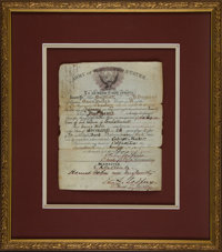 Louis Rott: His 7th Cavalry Discharge Papers Signed by Then-Lieutenant Edward Godfrey