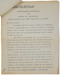 Political:Inaugural (1789-present), John F. Kennedy: Annotated Press Copy of His Inaugural Address. ...
