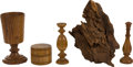 Military & Patriotic:Revolutionary War, Relics: Five Relics Related to Historic American Trees, from theCollection of J. S. Reigart,...