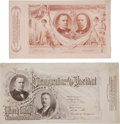 Political:Inaugural (1789-present), William McKinley (2) Jugate Inaugural Passes for the 1897 and 1901Ceremonies, ...