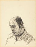 Post-War & Contemporary:Contemporary, MALCOLM MORLEY (British, b. 1931). Self Portrait, 1973.Graphite on paper. 17 x 14 inches (43.2 x 35.6 cm). ...