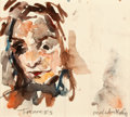 Post-War & Contemporary:Contemporary, MALCOLM MORLEY (British, b. 1931). Frances, 1973. Watercoloron paper. 6-1/4 x 7 inches (15.9 x 17.8 cm). Signed lower r...