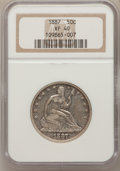 Seated Half Dollars: , 1887 50C XF40 NGC. NGC Census: (3/89). PCGS Population (3/109).Mintage: 5,000. Numismedia Wsl. Price for problem free NGC/...