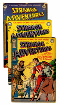 Golden Age (1938-1955):Science Fiction, Strange Adventures Group (DC, 1952-53) Condition: Average GD/VG....(Total: 8 Comic Books)