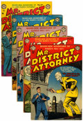 Silver Age (1956-1969):Adventure, Mr. District Attorney Group (DC, 1951-54) Condition: Average VG.... (Total: 5 Comic Books)