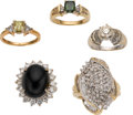Estate Jewelry:Rings, Colored Diamond, Diamond, Black Onyx, Gold Rings. ...