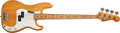 Musical Instruments:Bass Guitars, 1975 Fender Precision Natural Electric Bass Guitar, #598818. ...