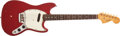 Musical Instruments:Electric Guitars, 1965 Fender Musicmaster Dakota Red Solid Body Electric Guitar,#109493. ...