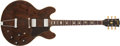Musical Instruments:Electric Guitars, Early 1970's Gibson ES-335 Walnut Semi-Hollow Body Electric Guitar,#112610. ...