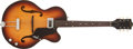 Musical Instruments:Electric Guitars, 1966 Gretsch Clipper Sunburst Semi-Hollow Body Electric, #106436....