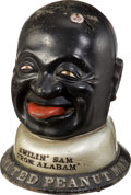 Advertising:Display Jars, Vending Advertising: Smilin' Sam From Alabam Peanut Vendor....