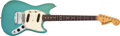 Musical Instruments:Electric Guitars, 1966 Fender American Mustang Daphne Blue Electric Guitar#149553....