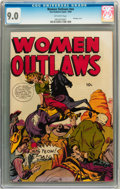 Golden Age (1938-1955):War, Women Outlaws #nn (Fox Features Syndicate, 1949) CGC VF/NM 9.0Off-white pages....