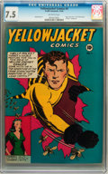 Golden Age (1938-1955):Crime, Yellowjacket Comics #4 (Charlton, 1944) CGC VF- 7.5 Off-white pages....
