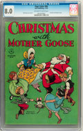 Golden Age (1938-1955):Cartoon Character, Four Color #90 Christmas with Mother Goose (Dell, 1945) CGC VF 8.0Off-white to white pages....
