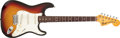 Musical Instruments:Electric Guitars, 1972 Fender Stratocaster Sunburst Electric Guitar, #353895. ...