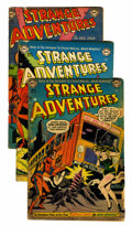Golden Age (1938-1955):Science Fiction, Strange Adventures Group (DC, 1952-61) Condition: Average GD....(Total: 19 Comic Books)