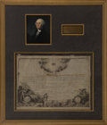 Autographs:U.S. Presidents, George Washington Signed Society of Cincinnati Diploma...