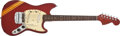 Musical Instruments:Electric Guitars, 1971 Fender Mustang Candy Apple Red Electric Guitar #287304....