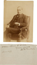 Photography:Cabinet Photos, William McKinley Studio Portrait Photograph and Signature ...