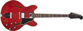 Musical Instruments:Electric Guitars, 1968 Gibson Trini Lopez Cherry Semi-Hollow Electric Guitar,#864019. ...