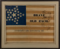 Political:Textile Display (pre-1896), Zachary Taylor: possibly the only known political campaign flag banner for this 1848 Whig candidate and 12th president....