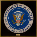 Political:Presidential Relics, John F. Kennedy: The Large Presidential Seal Plaque Displayed at His Official 1961 Inaugural Ball at The Mayflower Hotel....